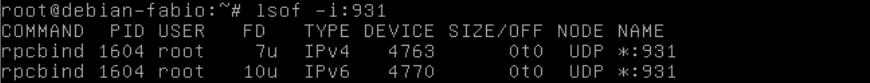 Comando lsof no Linux - Mostrando conexões abertas em uma porta