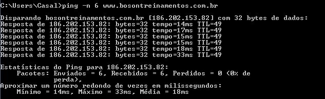 Ping no Windows