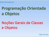 Programação Orientada a Objetos - Classes
