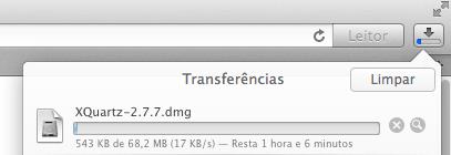 Baixando XQuartz no OS X