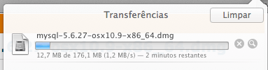Fazendo o download do MySQL para Mac OS X Yosemite e Mavericks