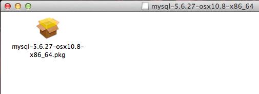 Abrindo o pacote do MySQL para Mac OS X Yosemite e Mavericks