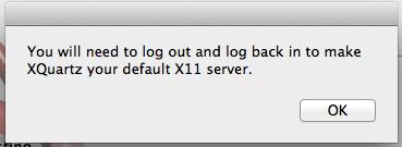 Instalar XQuartz no Mac OS X Yosemite - Logout