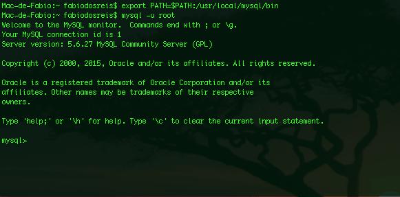 MySQL para Mac OS X Yosemite e Mavericks - Abrindo o programa