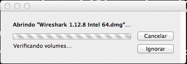 Wireshark no Mac OS X - Abrindo dmg
