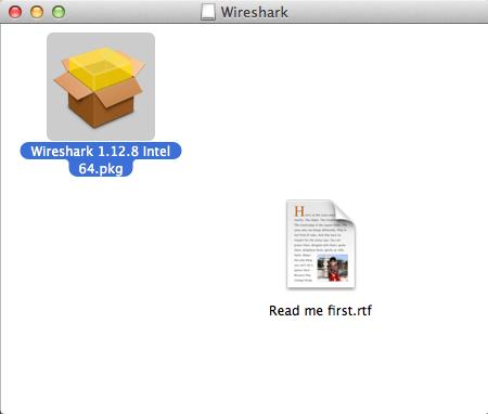 Wireshark no Mac OS X - Abrindo pacote
