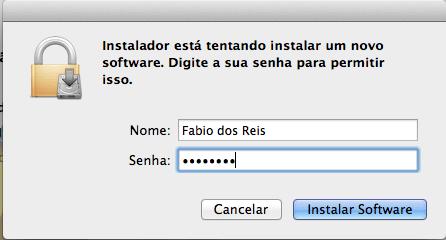 Wireshark no Mac OS X - Instalação - Senha