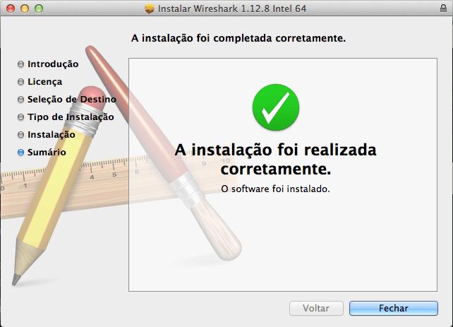 Wireshark no Mac OS X - Finalizando a Instalação