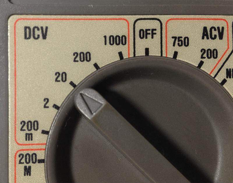 Multimetro - Escala de tensão DCV 20