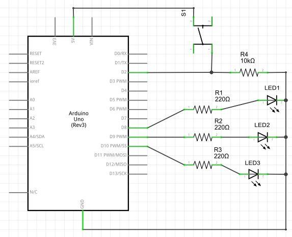 Arduino - Controlando LEDs com um pushbutton