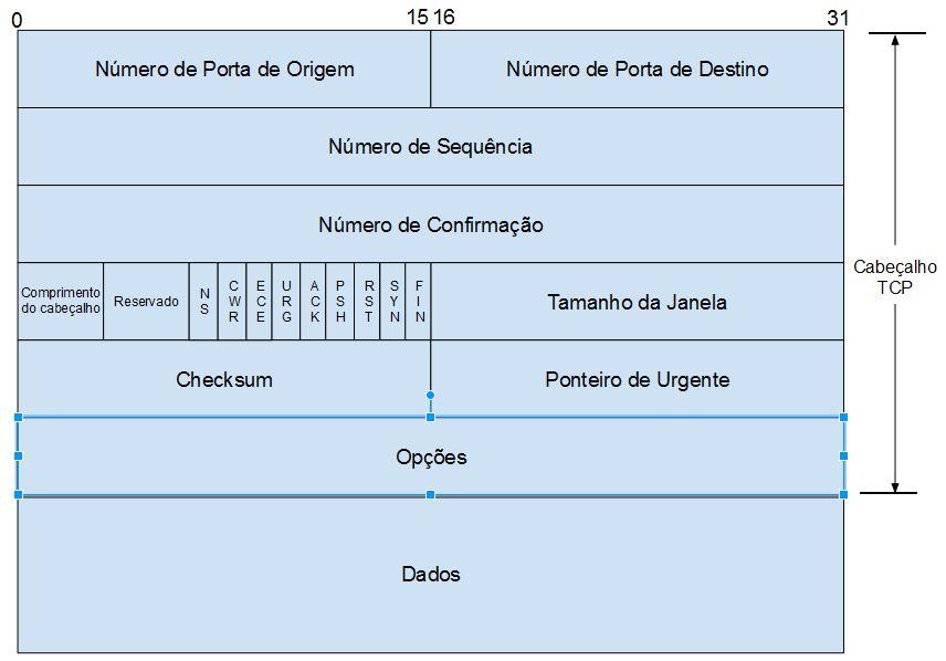 Campos do Cabeçalho TCP - Curso de Redes