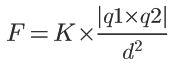 Fórmula da Lei de Coulomb