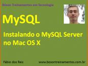 Instalar MySQL no Mac OS X
