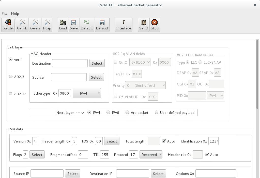 packETH no Linux Debian