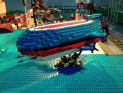 Dirigível, parte da exposição Steampunk LEGO