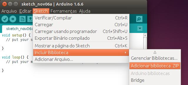 Instalar bibliotecas no Arduino