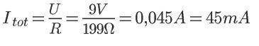 Medindo corrente com multímetro - corrente total