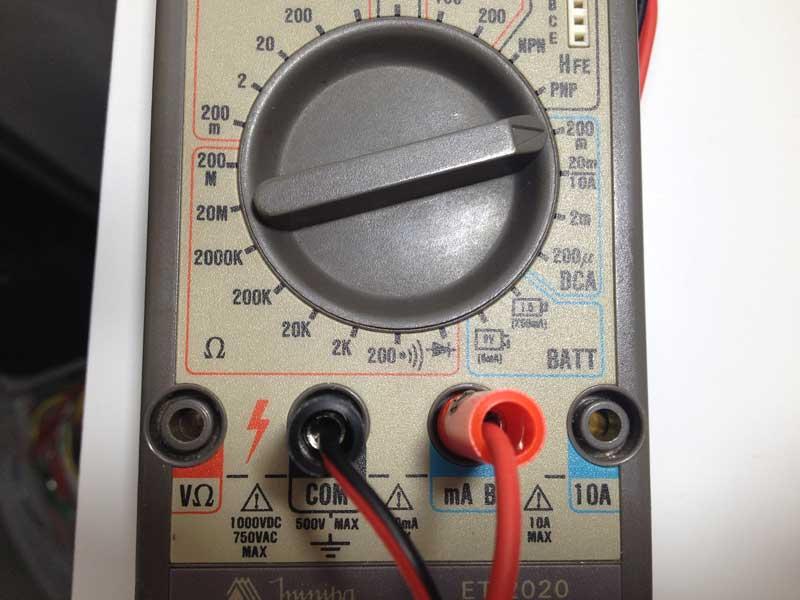 Medindo Corrente elétrica: Escala do multímetro
