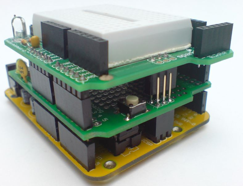 Shields empilhados Arduino