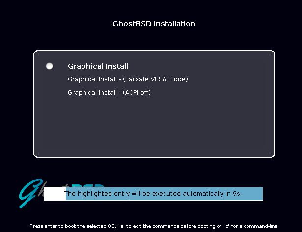 Instalação do GhostBSD