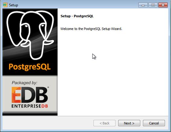 Instalador do PostgreSQL no Windows