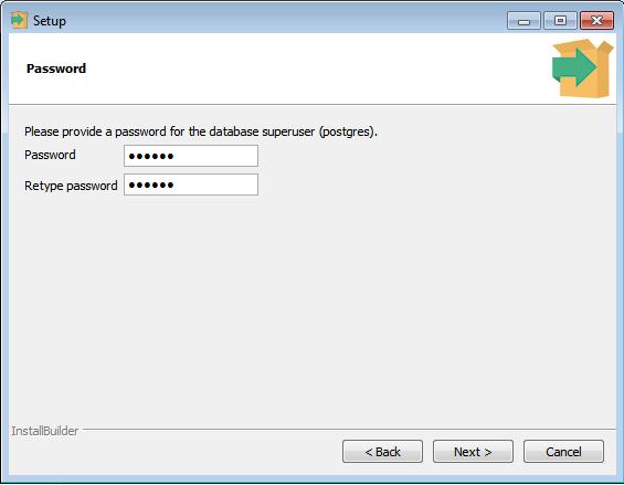 PostgreSQL - senha para o usuário administrador postgres