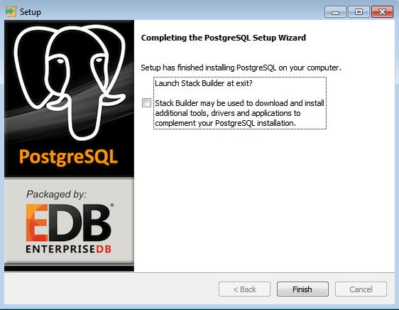 PostgreSQL - instalação realizada com sucesso
