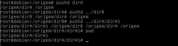 Comando pushd Linux