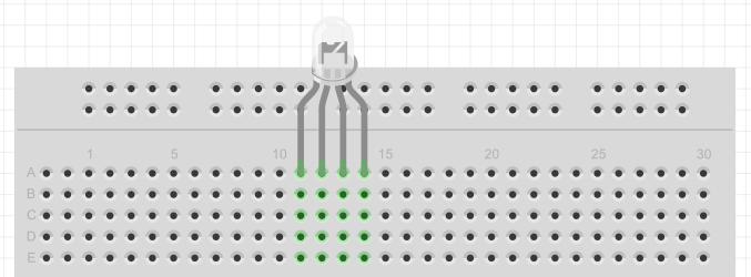 Conectando LED RGB a uma breadboard