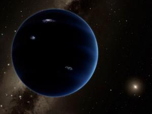 Concepção artística do nono planeta do sistema solar