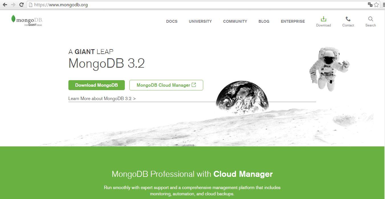 Baixar o banco de dados MongoDB