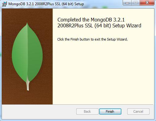 Finalizando a instalação do MOngoDB no Windows