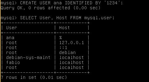 MySQL - Comando CREATE USER - criando um usuário