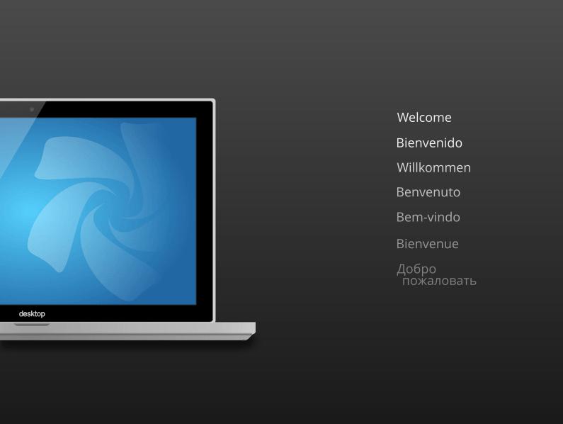 Tela de boas-vindas do Chakra Linux