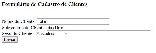 Formulário HTML para banco de dados e PHP