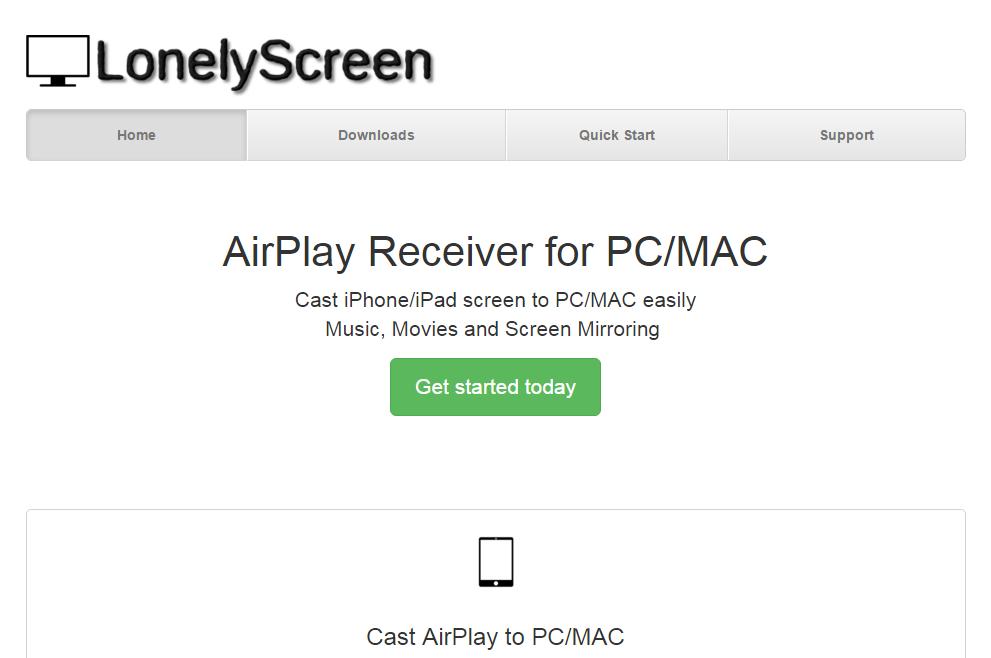 LonelyScreen Website