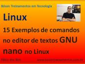 Editor de textos GNU nano no Linux - comandos