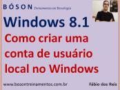 Criar conta de usuário local no Windows 8 e 8.1