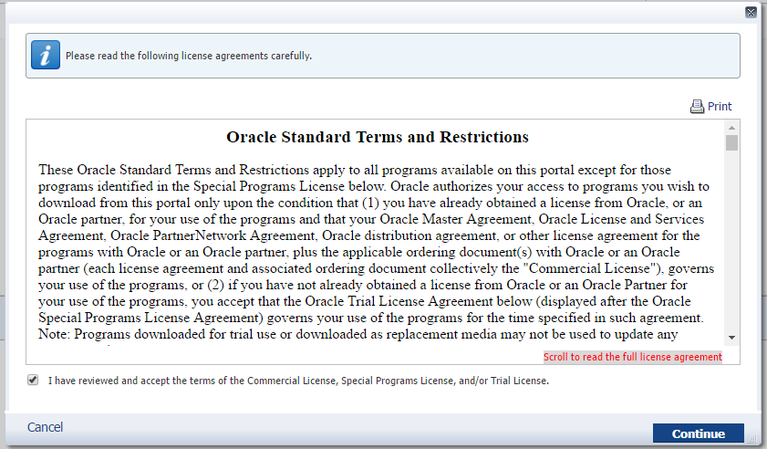 Licença de Uso - Oracle Delivery Network