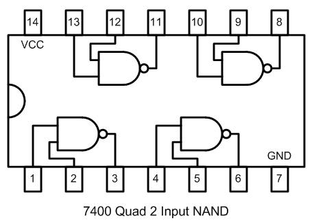 TTL 7400 - Quad NAND Porta Lógica
