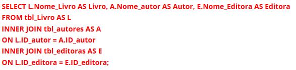 Exemplo de Código em Linguagem SQL