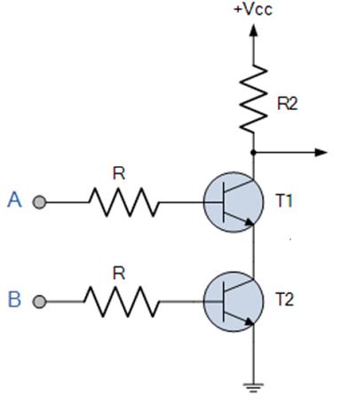 Porta Lógica NAND com transístores