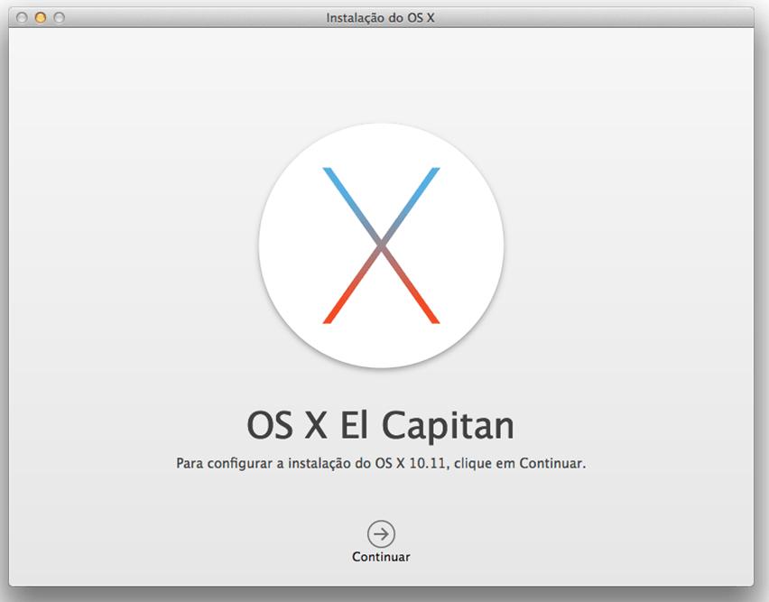 Criar pendrive de boot do sistema operacional OS X El Capitan