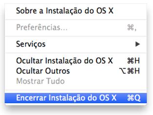 Encerrar instalação do OS X El Capitan