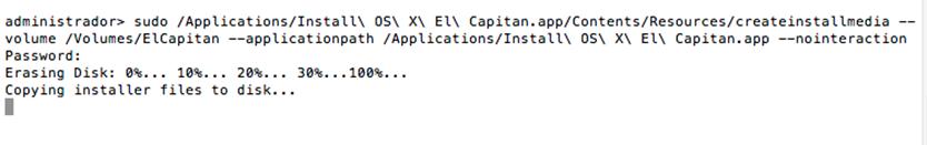 Criando pendrive de boot no Mac OS X El capitan