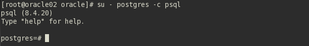 Entrar no postgresql via psql