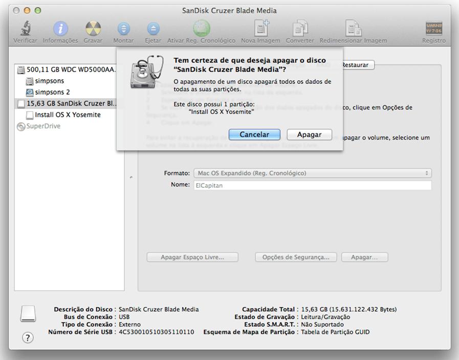 Formatar HD externo no iMac