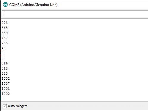 Monitor Serial - Capturando valore analógicos com um potenciômetro