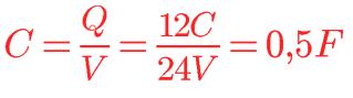 Calculando capacitância a partir da carga e tensão