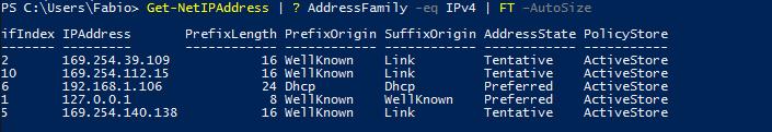 Windows PowerShell - Listar Adaptadores de Rede